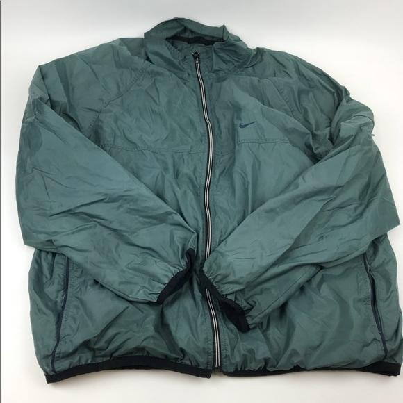 Nike Olive Green Windbreaker Jacket